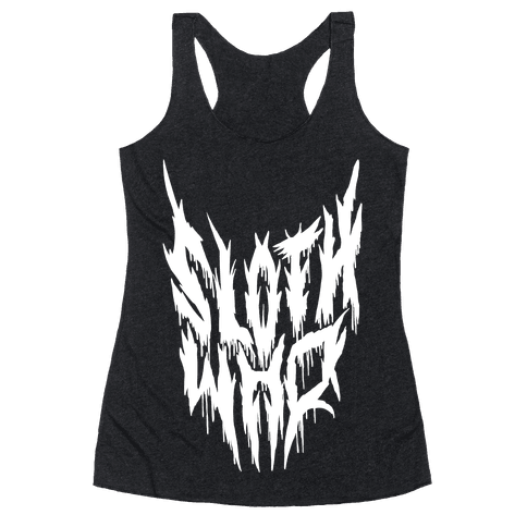 Sloth Who (Metal) Racerback Tank Top