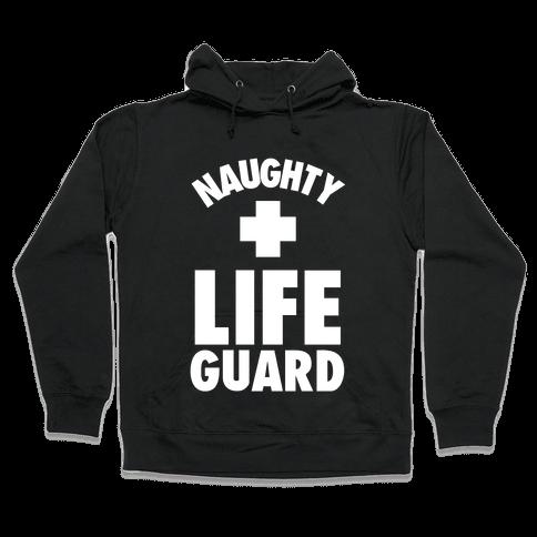 Naughty Life Guard Costume Hooded Sweatshirt