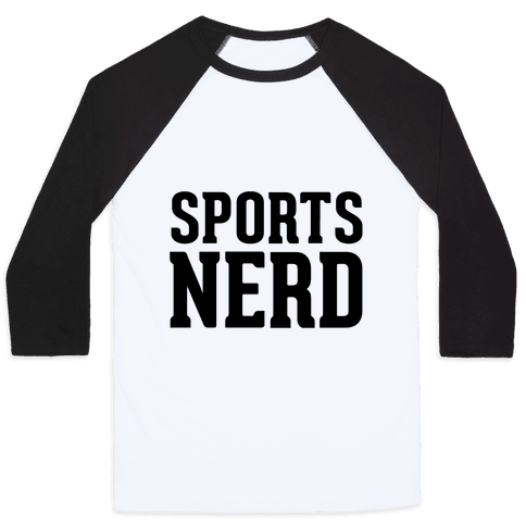 Sports Nerd Baseball Tee