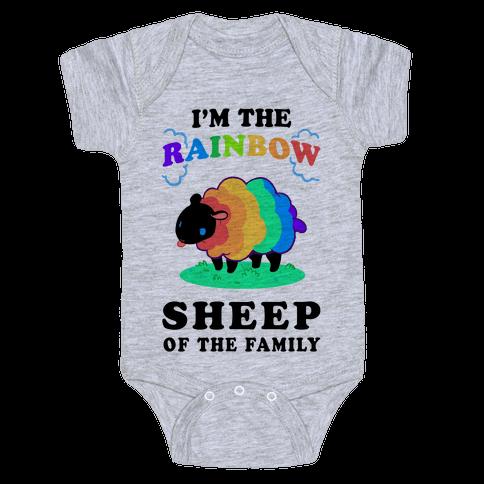 I'm The Rainbow Sheep Of The Family Baby Onesy
