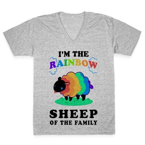 I'm The Rainbow Sheep Of The Family V-Neck Tee Shirt