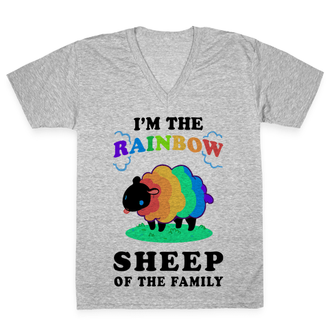 I'm The Rainbow Sheep Of The Family V-Neck Tee Shirt