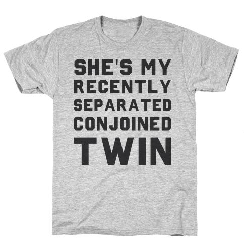 Conjoined Twin (Couples) Mens T-Shirt