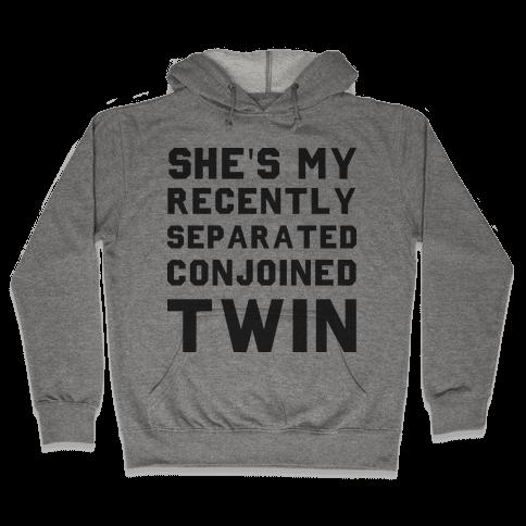 Conjoined Twin (Couples) Hooded Sweatshirt
