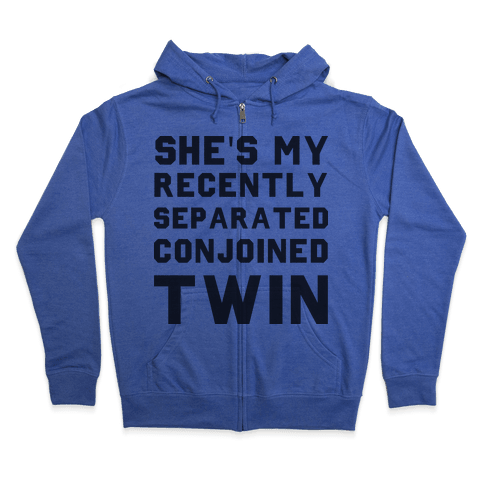 Conjoined Twin (Couples) Zip Hoodie