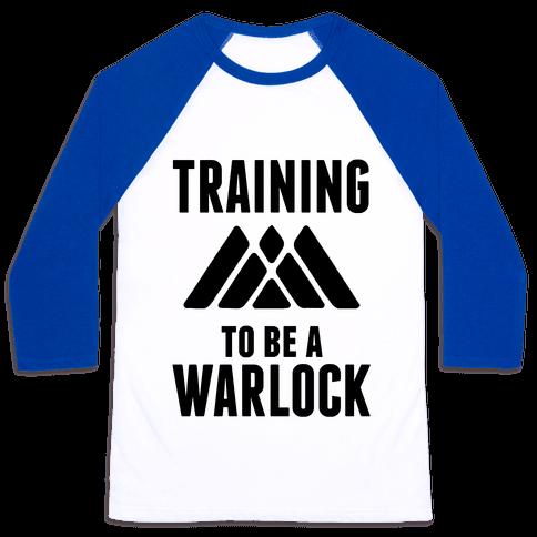 Training To Be A Warlock Baseball Tee