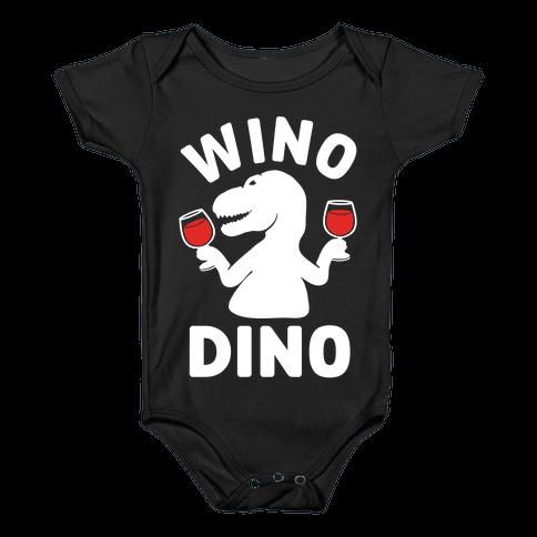 Wino Dino Baby Onesy