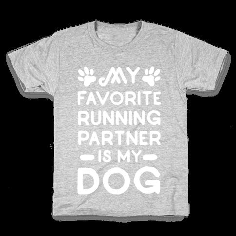 My Favorite Running Partner Is My Dog Kids T-Shirt