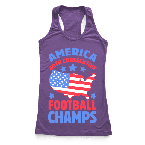 America: 49th Consecutive Football Champs Racerback Tank Top