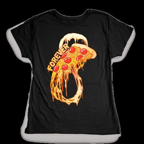 Pizza Infinity Womens T-Shirt
