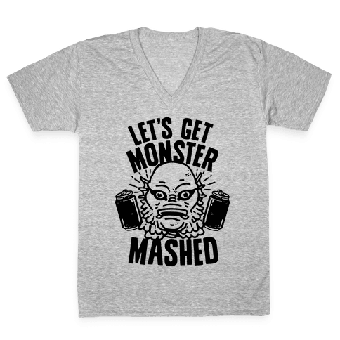 Let's Get Monster Mashed V-Neck Tee Shirt