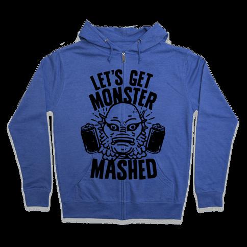 Let's Get Monster Mashed Zip Hoodie