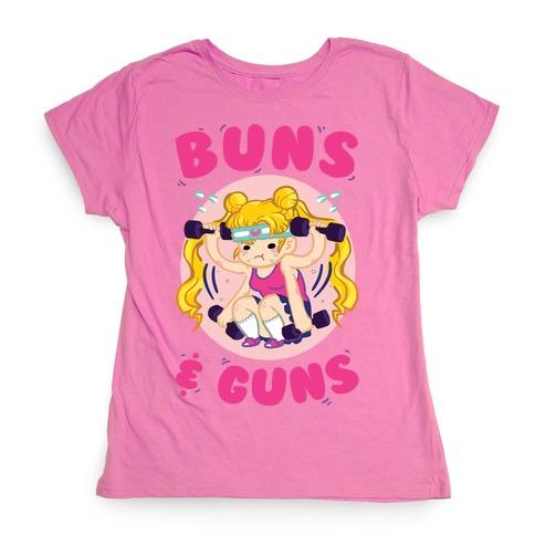 Buns & Guns Womens T-Shirt