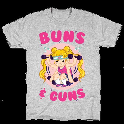Buns & Guns Mens/Unisex T-Shirt