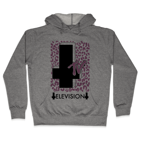 TV is the Devil Hooded Sweatshirt