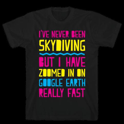 Skydiving Mens T-Shirt