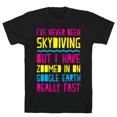 Skydiving Mens T-Shirt