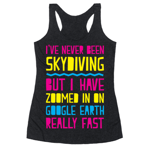 Skydiving Racerback Tank Top