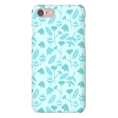 Floral Pattern (Teal) Phone Case