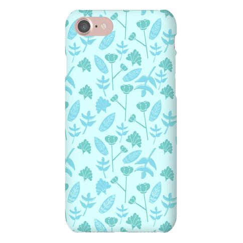 Floral Pattern (Teal) Phone Case
