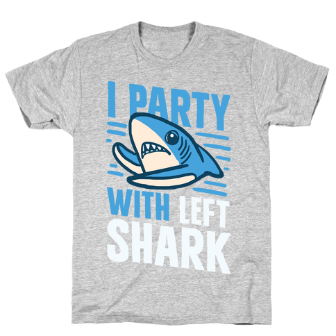 I Party With Left Shark Mens T-Shirt