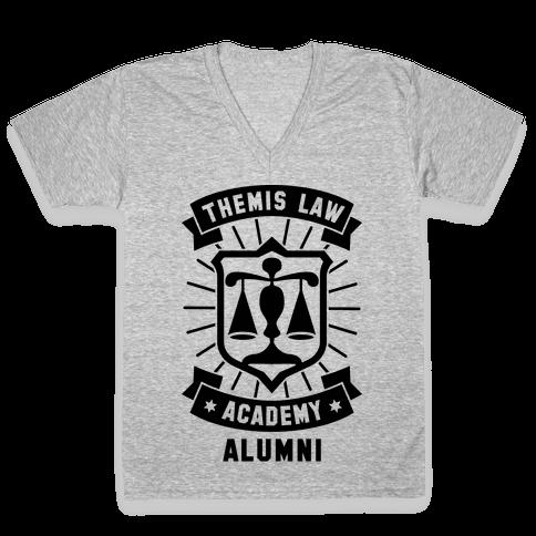 Themis Law Academy Alumni V-Neck Tee Shirt