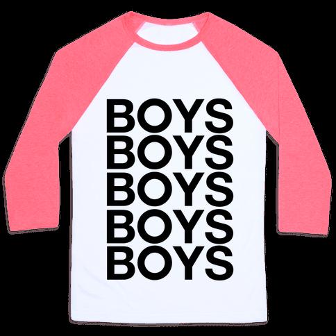 Boys Boys Boys Baseball Tee