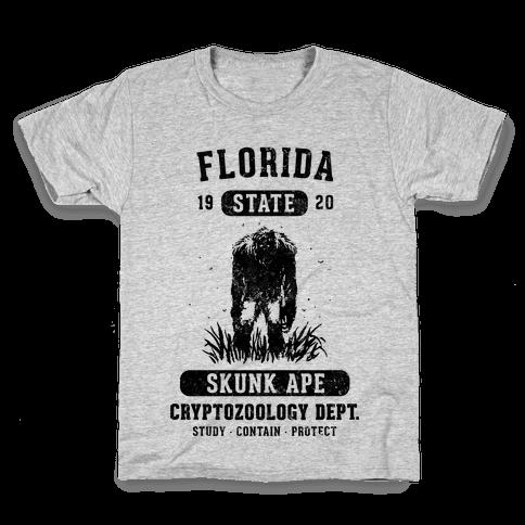 Florida Skunk Ape Cryptozoology Kids T-Shirt
