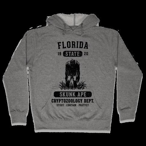 Florida Skunk Ape Cryptozoology Hooded Sweatshirt