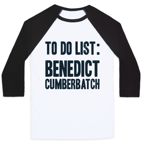 To Do List Benedict Baseball Tee