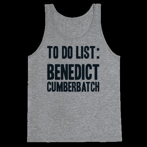 To Do List Benedict Tank Top