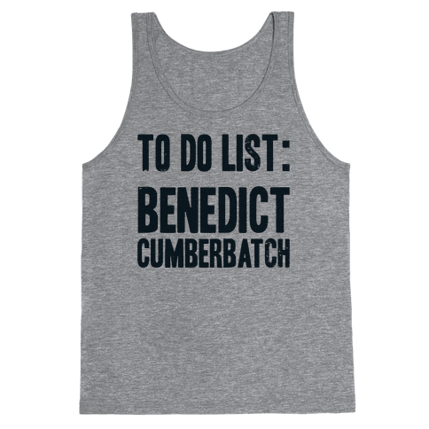 To Do List Benedict Tank Top