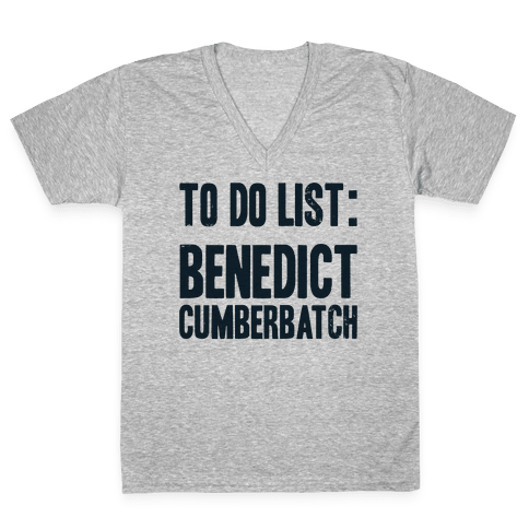 To Do List Benedict V-Neck Tee Shirt