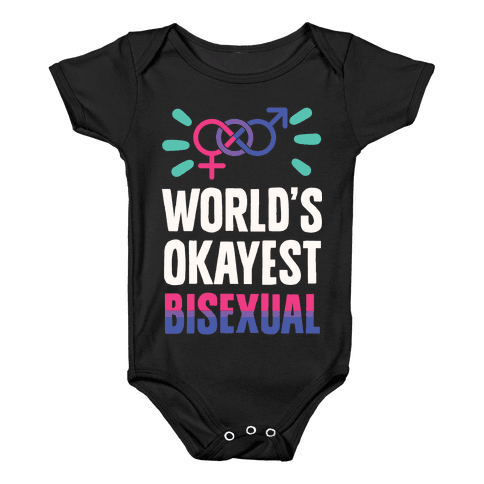 World's Okayest Bisexual Baby Onesy