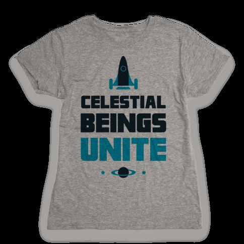 Celestial Beings Unite Womens T-Shirt