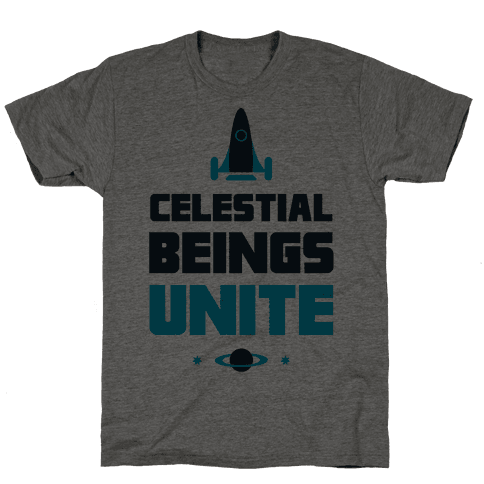 Celestial Beings Unite Mens T-Shirt