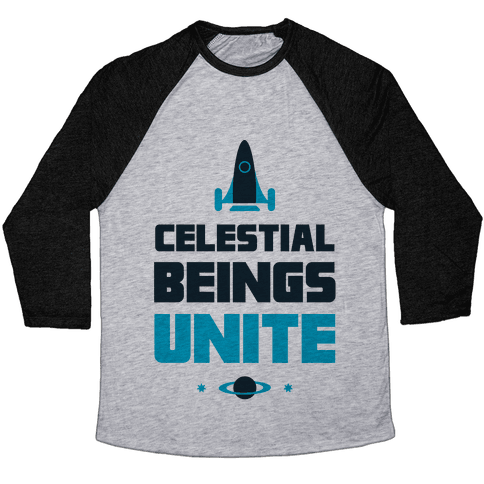 Celestial Beings Unite Baseball Tee