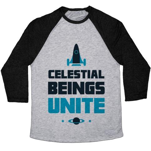Celestial Beings Unite Baseball Tee