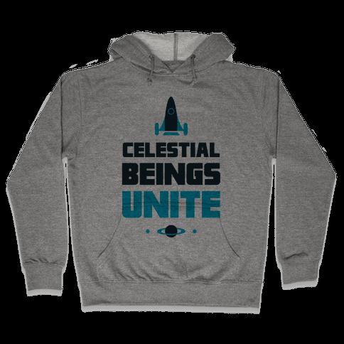 Celestial Beings Unite Hooded Sweatshirt