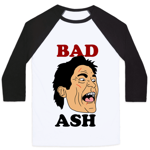 Bad Ash Couples Shirt Baseball Tee