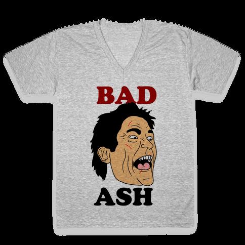 Bad Ash Couples Shirt V-Neck Tee Shirt