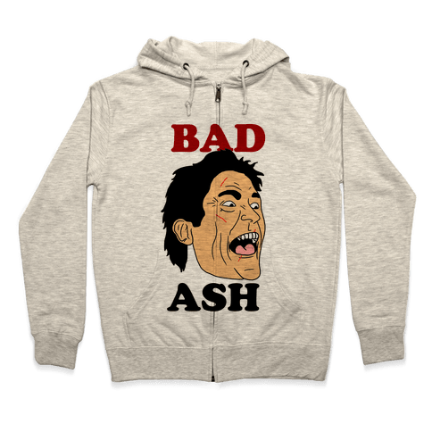 Bad Ash Couples Shirt Zip Hoodie