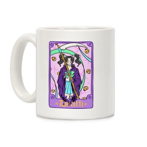 Pastel Goth Death Tarot Card Coffee Mug