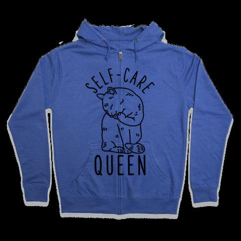 Self-Care Queen Zip Hoodie