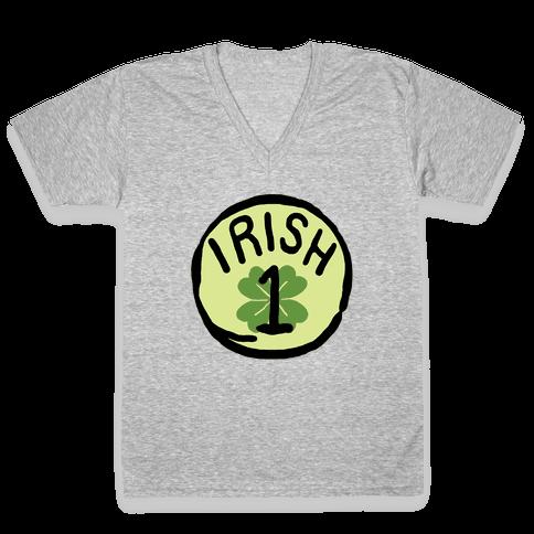 Irish 1 (St. Patricks Day) V-Neck Tee Shirt