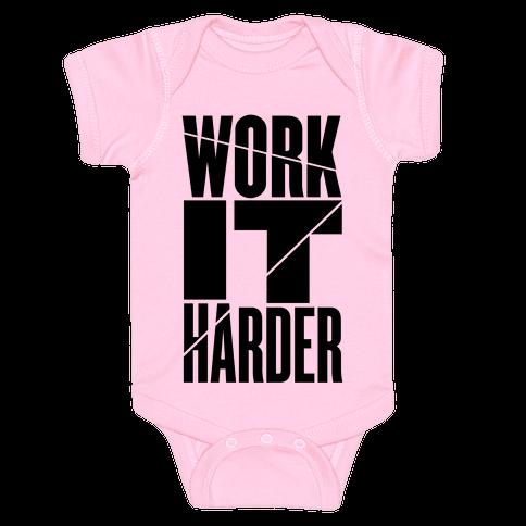 Work It Harder Baby Onesy