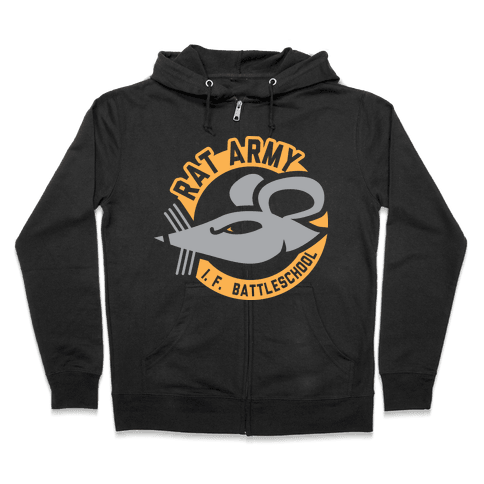 Rat Army (Faded) Zip Hoodie