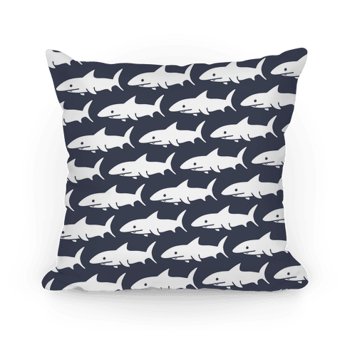 Shark Pattern Pillow (Navy) Pillow