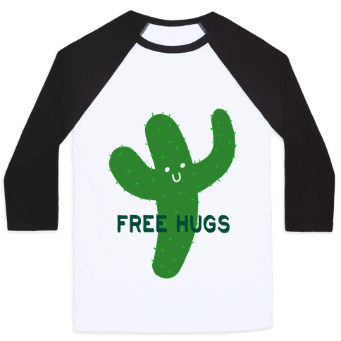 Free Hugs Cactus Baseball Tee