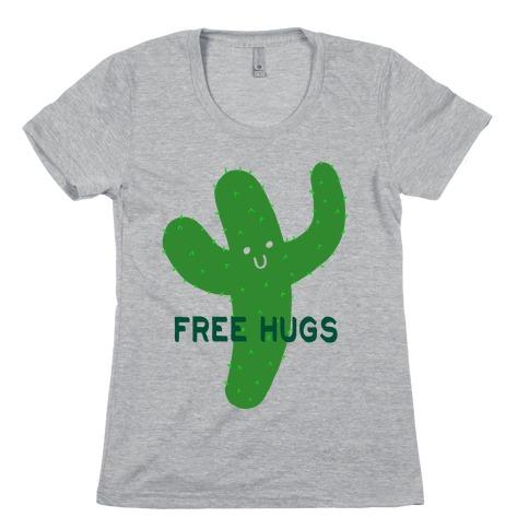 Free Hugs Cactus Womens T-Shirt